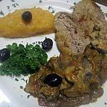 recette Filet mignon de porc  à la sauce d' oseille et champignons.