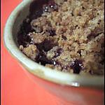 recette Crumble vanillé Poire-Chocolat
