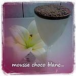 recette mousse chocolat blanc avec une base de creme anglaise