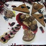 recette Tranches de foie gras  aux marrons et cassis.