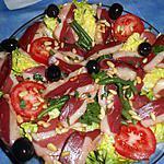 recette Salade de magret de canard fumé,version 2