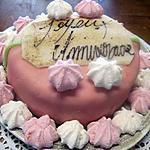 recette Gâteau chocolat pâtes d'amandes et meringues.