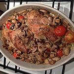 recette cuisses de lapin aux champignons