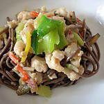 recette Soba Légumes & poisson