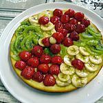recette tarte kiwis/fraises/bananes