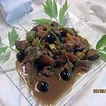 recette Bourguignon aux trio de légumes sauce Massalé.