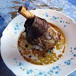 recette souris d'agneau confites thym romarin miel