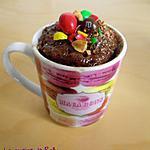 recette Mug cake Nutella et M&Ms