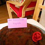 recette FONDANT AU CHOCOLAT POUR L'ANNIVERSAIRE D'HANOR