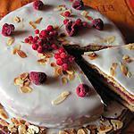 gâteau aux fruits rouges et aux amandes