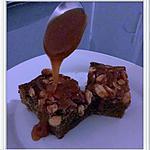 """recette Brownies cacahuètes et sauce caramel façon """"snickers"""""""