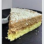 recette Gâteu vanille et sa mousse au chocolat sans oeuf
