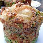 recette Muffins emmental, sésame et brocolis