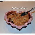 recette Crumble  pomme/poire/carambar