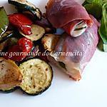 Nems de jambon cru et légumes grillés