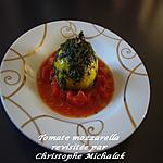 recette Tomate mozzarella revisitée par C. Michalak