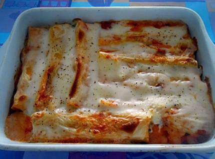Cannelloni farcis aux fruits de mer  430