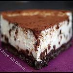recette ** Cheesecake mi-Ange mi-Démon : Garniture légère vanillée sur une croûte croustillante extra chocolat**