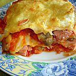 recette Lasagnes au jambon et aux champignons