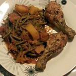 recette poulet au cumin avec haricots et pomme de terre à la tomate