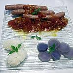 recette Chipolatas à la sauce tomates Massalé.