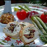 recette Roulade de poulet à l'Olivade Vert-Amande et Paleta de Bellota