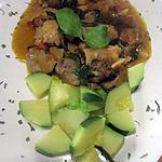 recette Sauté de porc au curry et basilic.