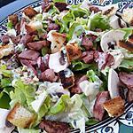 Salade de gesier de volaille sauce roquefort