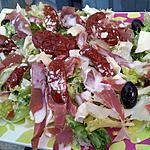 Salade italienne sauce parmesan