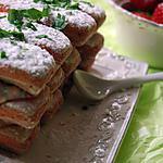 recette Tiramisu express à la fraise basilic