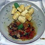 recette Blancs de calamars sautés. sauce tomates basilic.