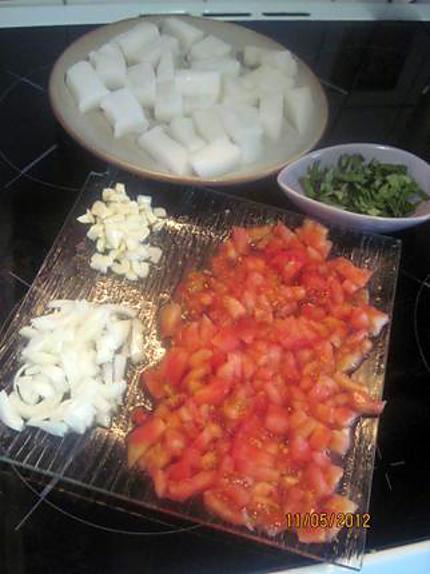 Recette de blancs de calamars saut s sauce tomates basilic - Comment couper une tomate en cube ...