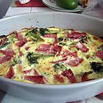recette Clafoutis de brocoli et jambon fumé