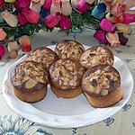 recette muffins à la crème de nouguat blanc ,framboise et amandes