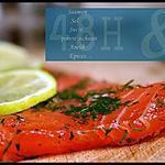 """recette ** Du Saumon mariné dit """"Gravlax"""" !!! en voilà une  idée simplissisme pour Pâques, Noël ... repas de fêtes **"""
