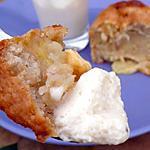 Muffins nougat, pomme, chocolat blanc, coco, avec leur mousse de nougat