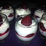 recette Verrine crème de mascarpone et  framboises