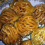 recette Bouchnika plongée dans le sirop de sucre ( comme les chabakias)