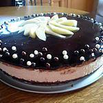 Bavarois Mousse Poire et Mousse Chocolat
