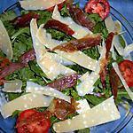 Roquette chiffonade de jambon et parmesan