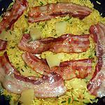 Riz creole a l ananas et lard grillé