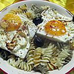 recette Pâtes Fusilli aux oeufs d'Espelette.