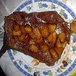 recette Galette au blé noir salée garnie de pommes au miel