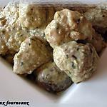 recette Boulette de poulet au pesto