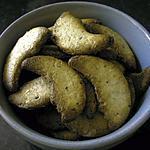 recette Croissants de lune sablés à la noisette