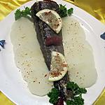 recette Queue de poisson merlu au radis noir.