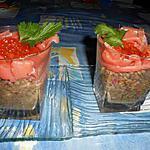 recette Verrine de lentilles et saumon fumé