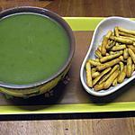 recette Soupe aux feuilles de blettes  et pommes de terre au micro-ondes.