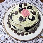 Gâteau au citron et chocolat blanc.