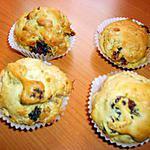 recette Muffins aux cranberries et au muesli
